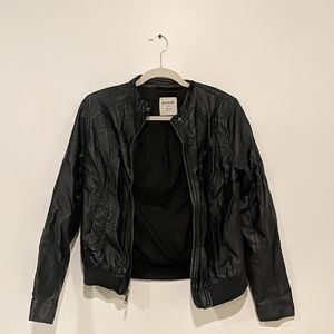 Old Navy Black Vegan Leather Jacket